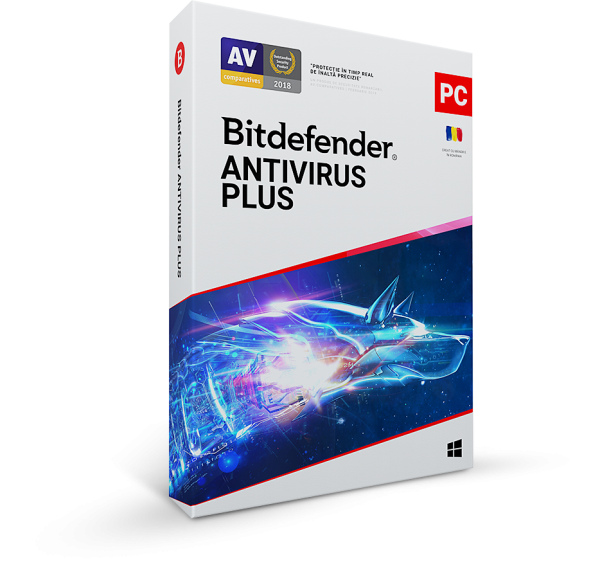 Nou! Bitdefender Antivirus Plus 2020, 3 PC, 1 ani, Licenta noua, BOX/Retail
