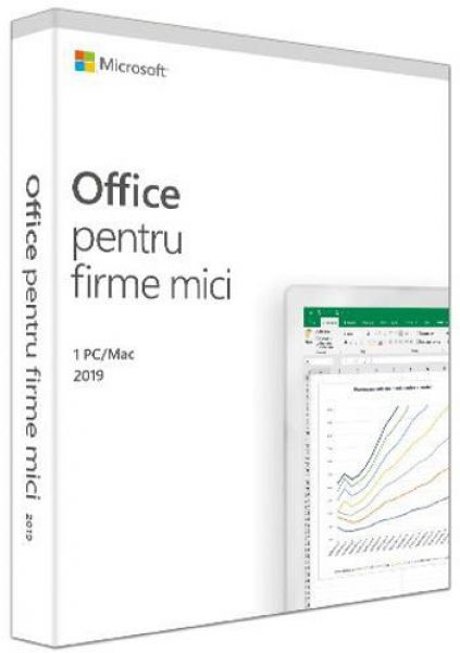 Microsoft Office Home and Business 2019, 32/64bit, Engleza, FPP/Medialess