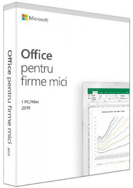 Microsoft Office Home and Business 2019, 32/64bit, Romana, FPP/Medialess